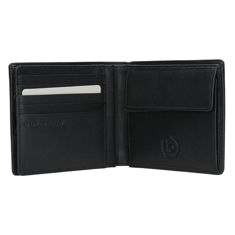 Pánská kožená peněženka Bugatti Nilsen - černá