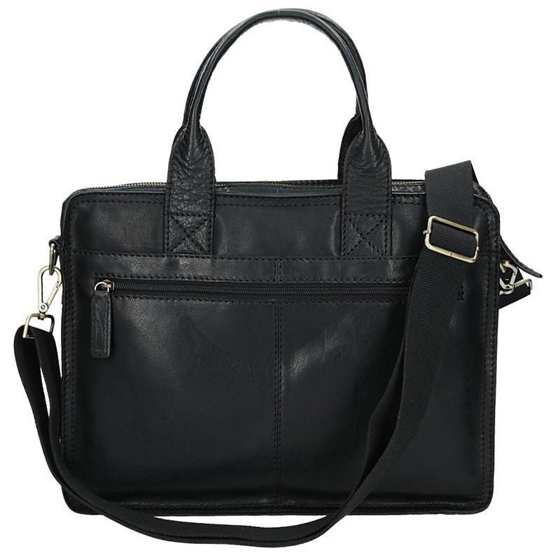 Pánská kožená taška přes rameno Lagen Bertram - černá