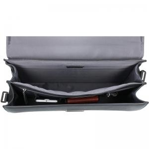 Luxusní pánská kožená aktovka Bugatti Sartora - černá