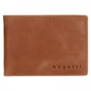 Pánská kožená peněženka Bugatti Ceasar - hnědá