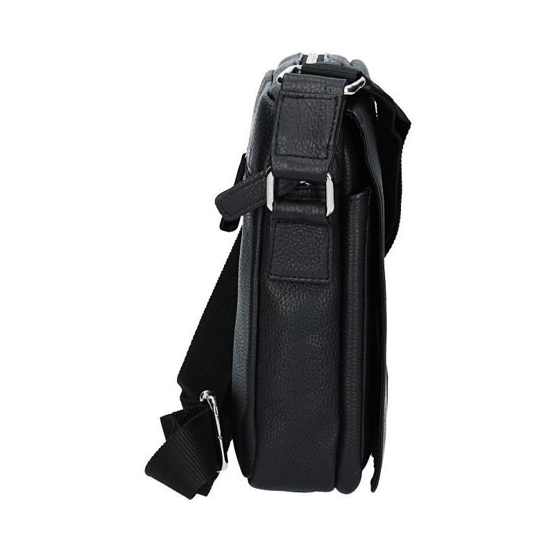 Pánská kožená taška přes rameno Lagen Paull - černá