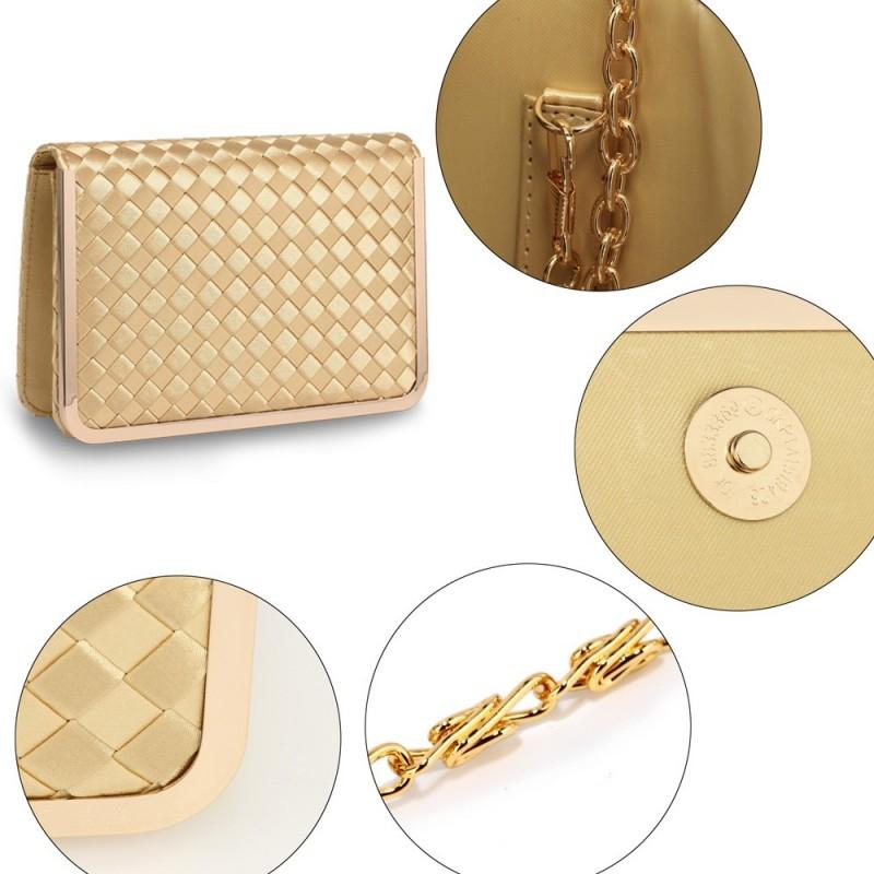 Dámské psaníčko LS Fashion Luren - zlatá