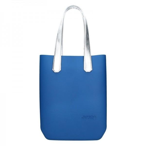 3fef681107d Dámská trendy kabelka Ju'sto J-High - modro-stříbrná