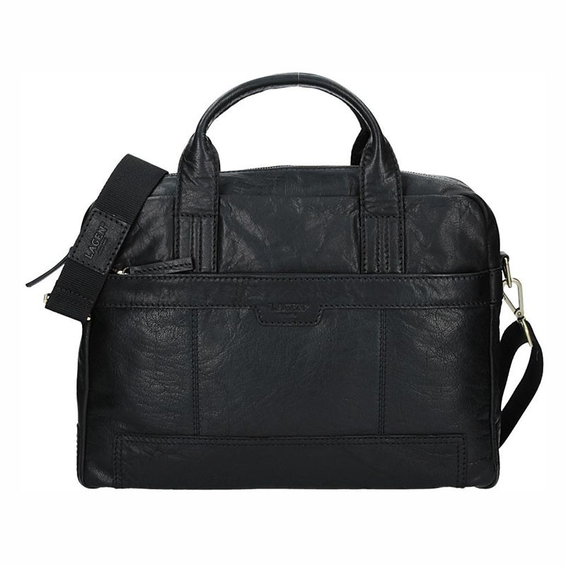 Pánská kožená taška přes rameno Lagen Dante - černá 0a1c88936c7