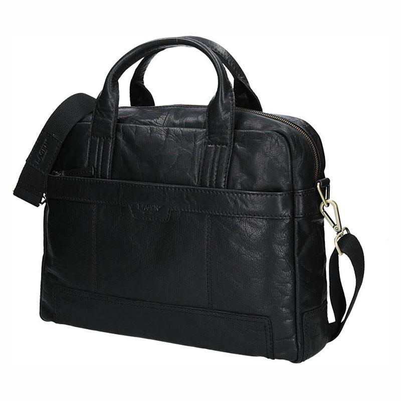 Pánská kožená taška přes rameno Lagen Dante - černá