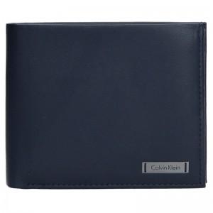 Pánská kožená slim peněženka Calvin Klein Oliver - modrá