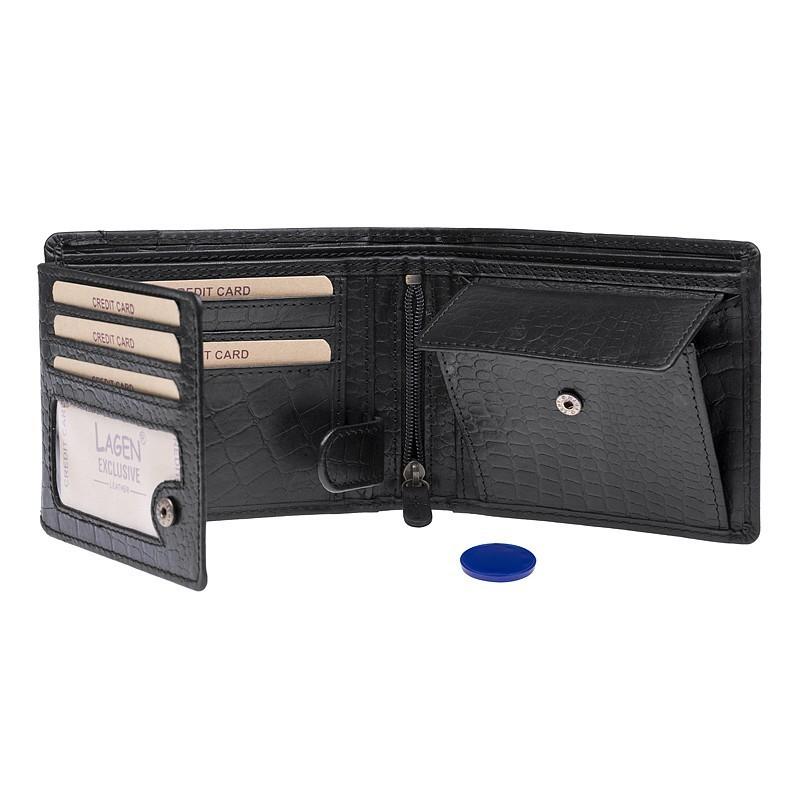 Pánská kožená peněženka Lagen Roco - černá