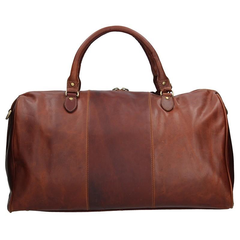 Pánská celokožená cestovní taška Justified Stavros - hnědá