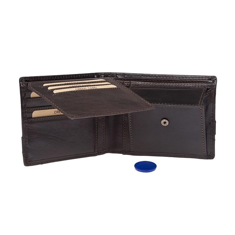 Pánská kožená peněženka Lagen Jarko - hnědá