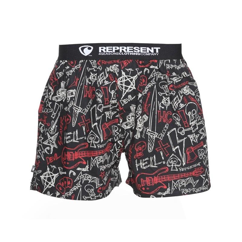 Pánské Boxerky Represent Exclusive Metal - červená