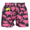 Pánské Boxerky Represent Clasic piggy - černo-růžová