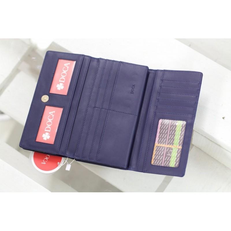 Dámská peněženka Doca 64813 - modrá