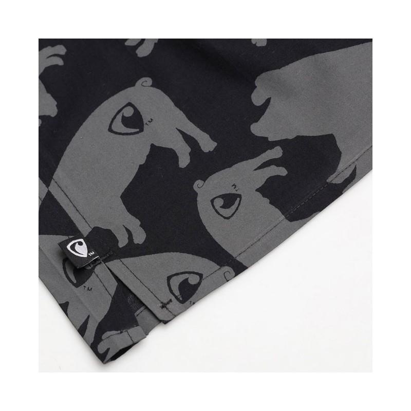 Pánské Boxerky Represent Clasic piggy - černo-šedá