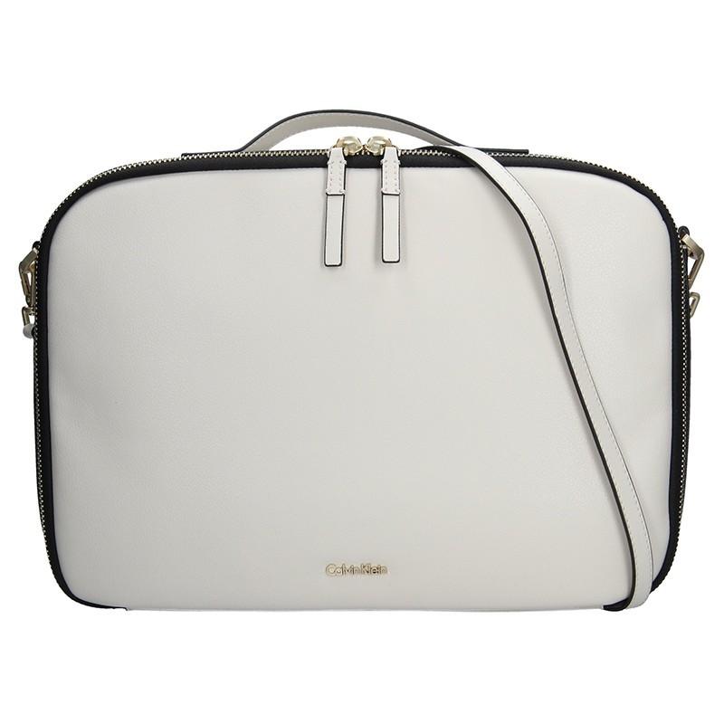 6ee3b61a26 Dámská taška na notebook Calvin Klein Aurora - krémová