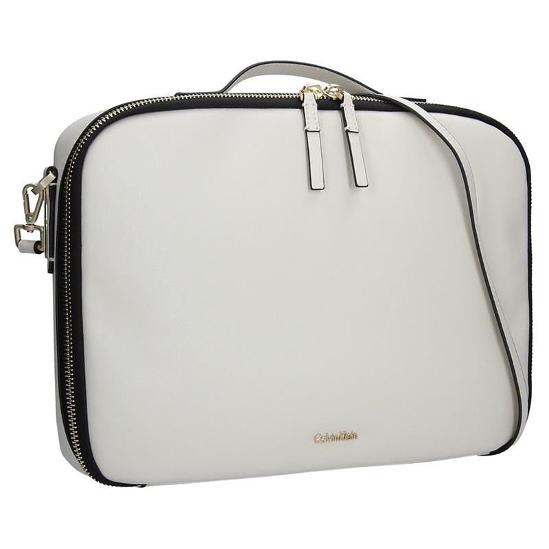Dámská taška na notebook Calvin Klein Aurora - krémová c08bbd71c9