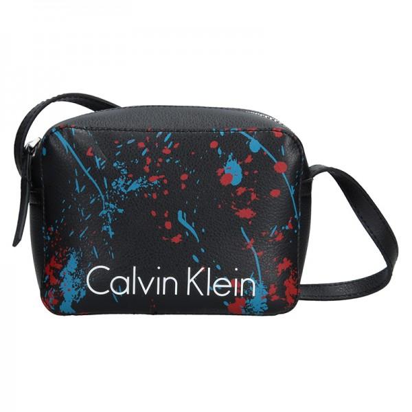 Dámská crossbody kabelka Calvin Klein Small Splatter - modrá