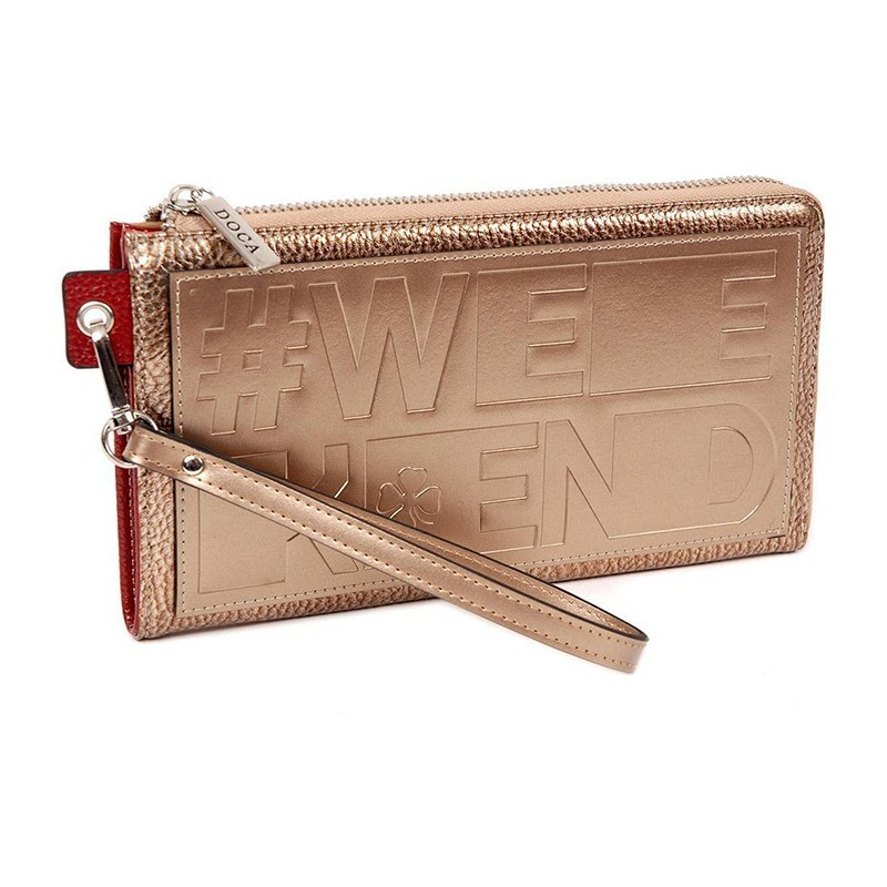 Dámská peněženka Doca 64792 - bronzová