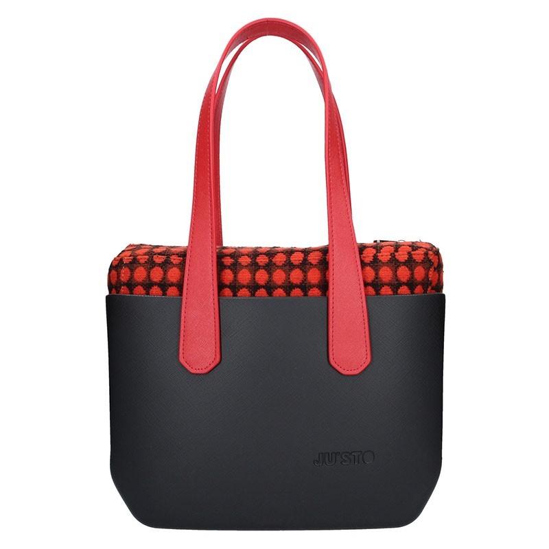 Dámská trendy kabelka Ju sto J-Wide Nora - černo-červená f1ce0b1625b