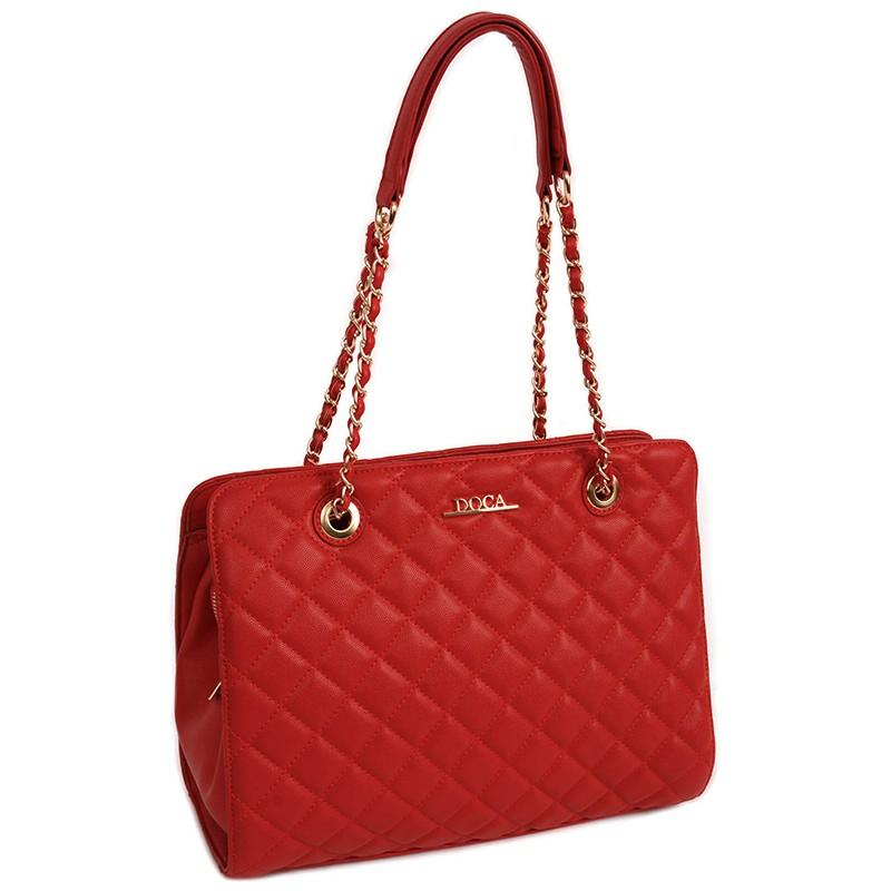 Dámská kabelka Doca 13247 - červená