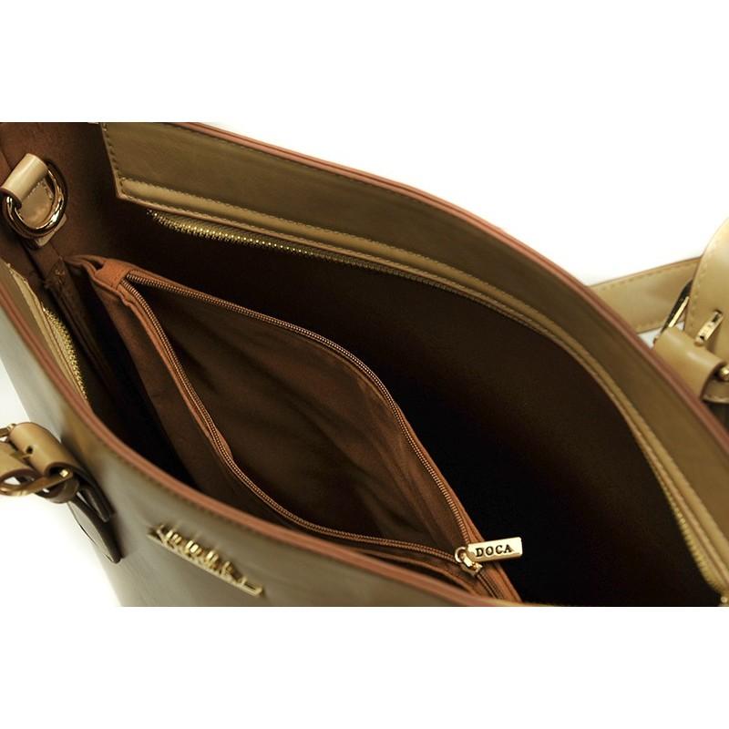 Dámská kabelka Doca 13371 -béžová