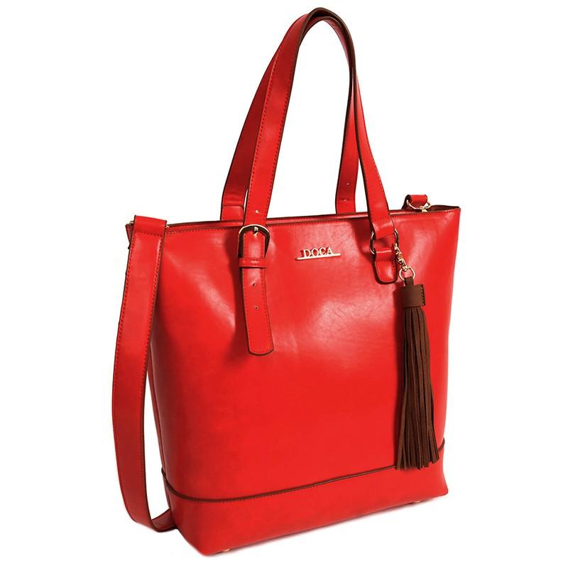 Dámská kabelka Doca 13372 - červená