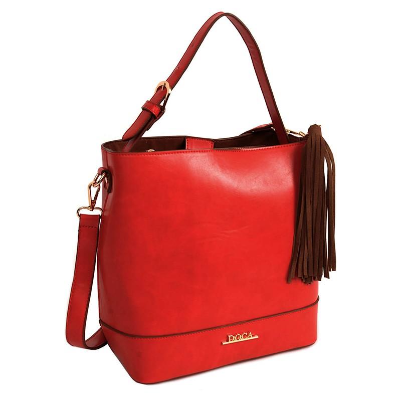 Dámská kabelka Doca 13376 - červená