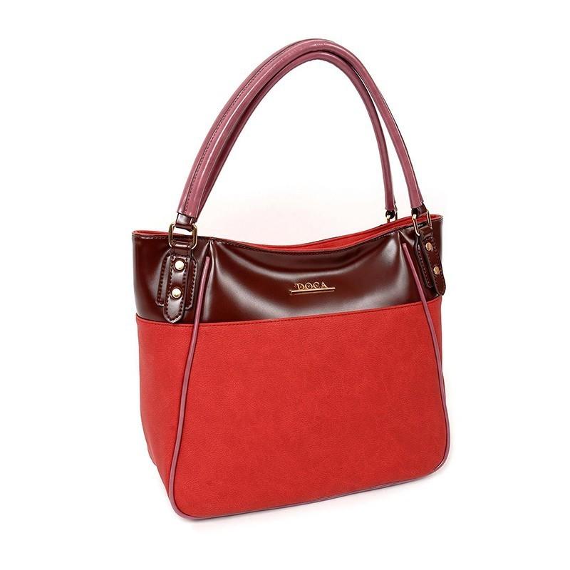 Dámská kabelka Doca 13000 - červená