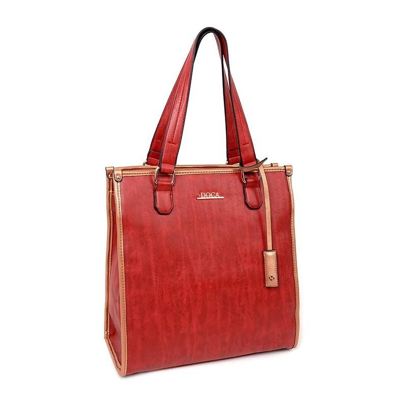 Dámská kabelka Doca 12973 - červená