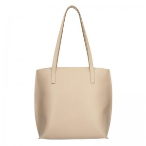 Dámská kožená kabelka Facebag Alexandra - béžová