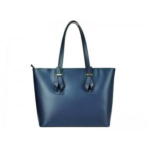 Elegantní dámská kožená kabelka Laura Biaggi Magda - modrá