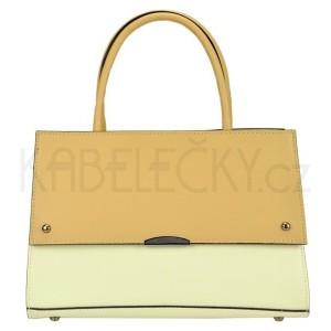 Dámská kožená kabelka Vera Pelle Angela - béžovo-krémová