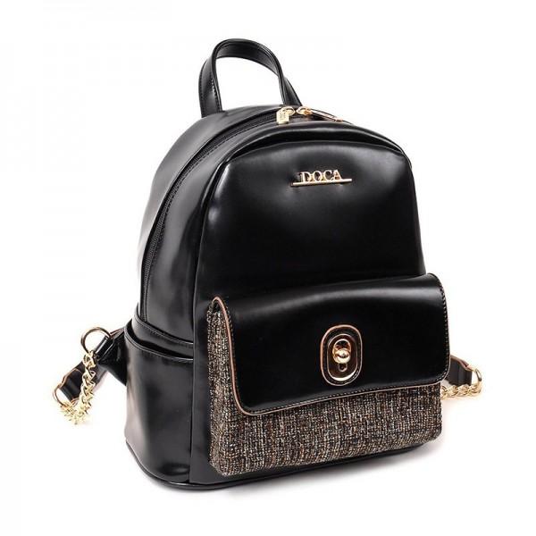 Dámský batůžek Doca 12863 - černá
