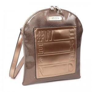 Dámská crossbody kabelka Doca 12690 - bronzová