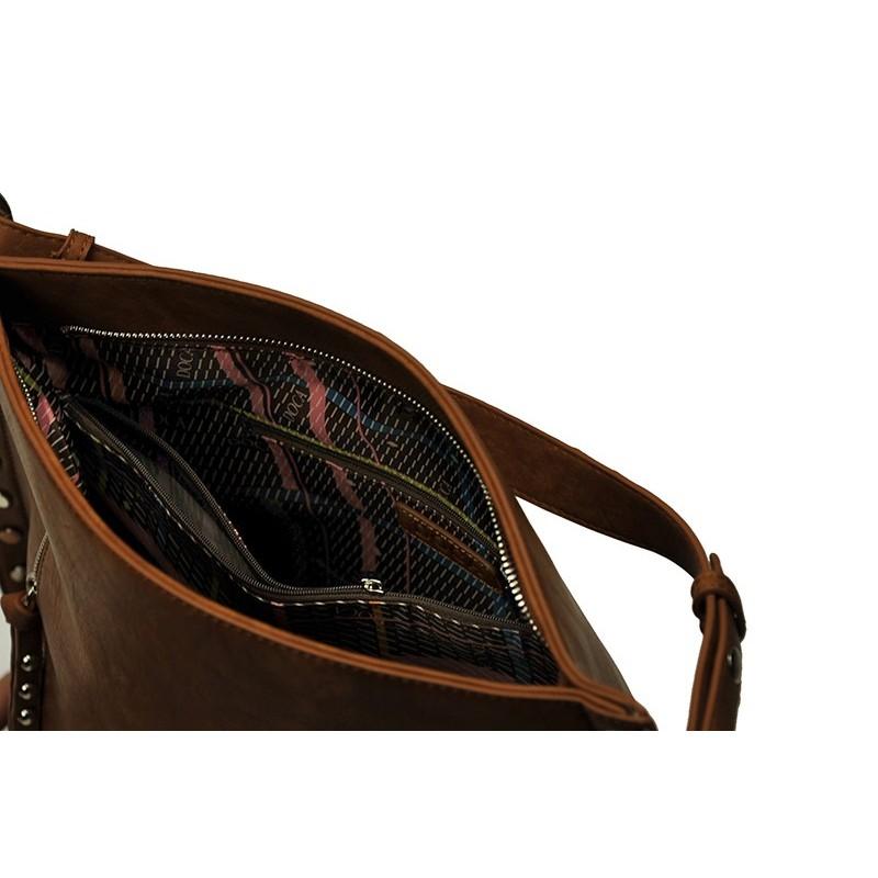 Dámská kabelka Doca 13387 - camel