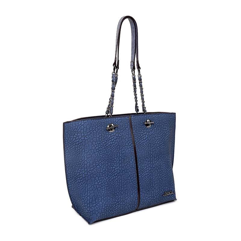 Dámská kabelka Doca 12613 - modrá
