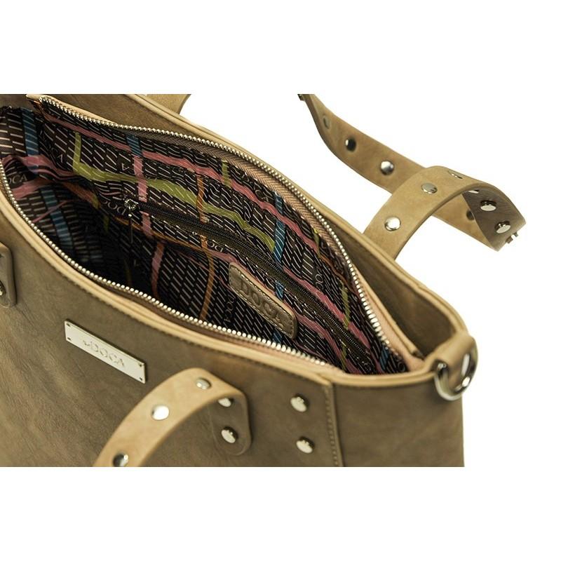 Dámská kabelka Doca 13394 - béžová