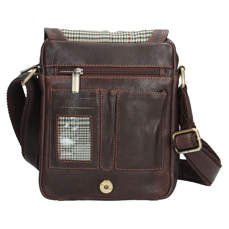Pánská kožená taška přes rameno SendiDesign CT005 - hnědá