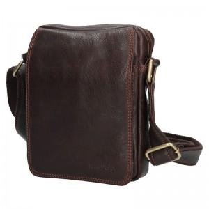 Pánská kožená taška přes rameno SendiDesign CT006 - hnědá