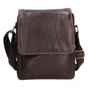 Pánská kožená taška přes rameno SendiDesign CT702 - hnědá