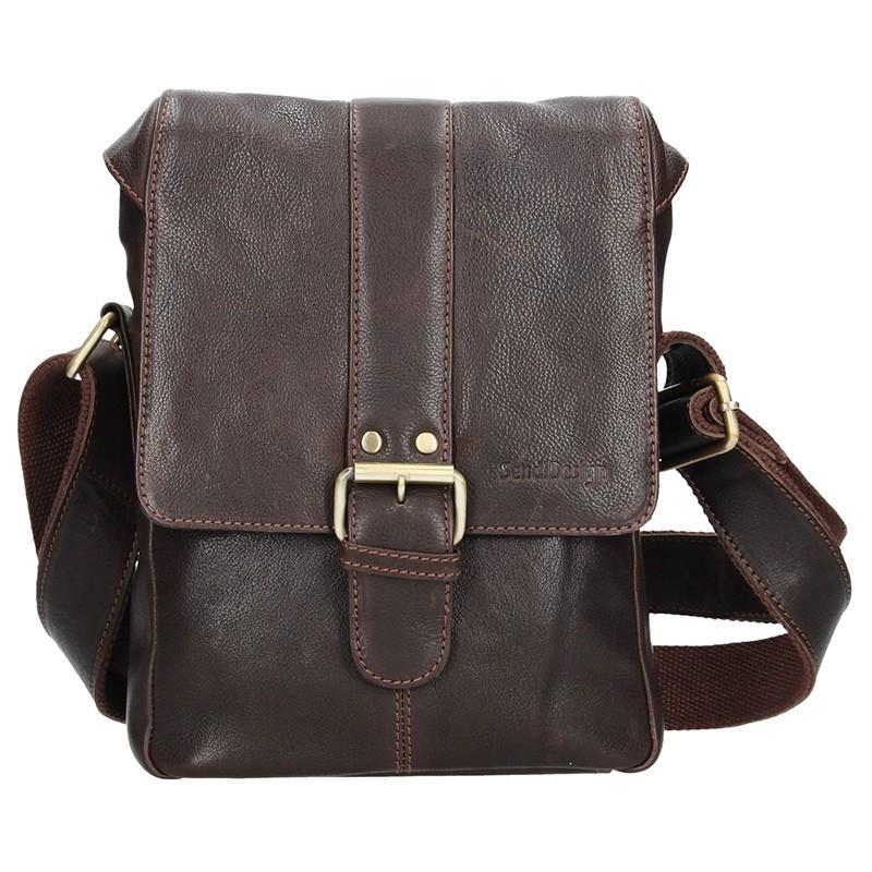 Pánská kožená taška přes rameno SendiDesign Pier - hnědá