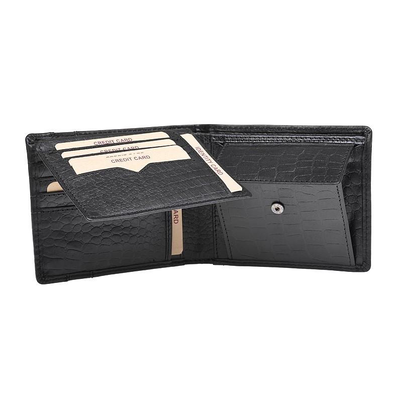 Pánská kožená peněženka Lagen Rocca- černá
