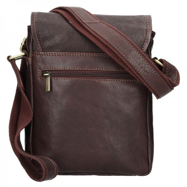 Panská kožená taška přes rameno SendiDesign Maxim - hnědá