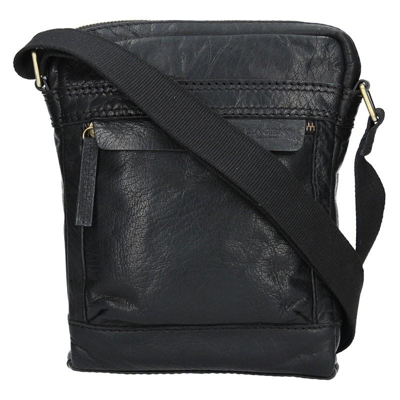 9425c4975c Pánská kožená taška přes rameno Lagen 20672 - černá