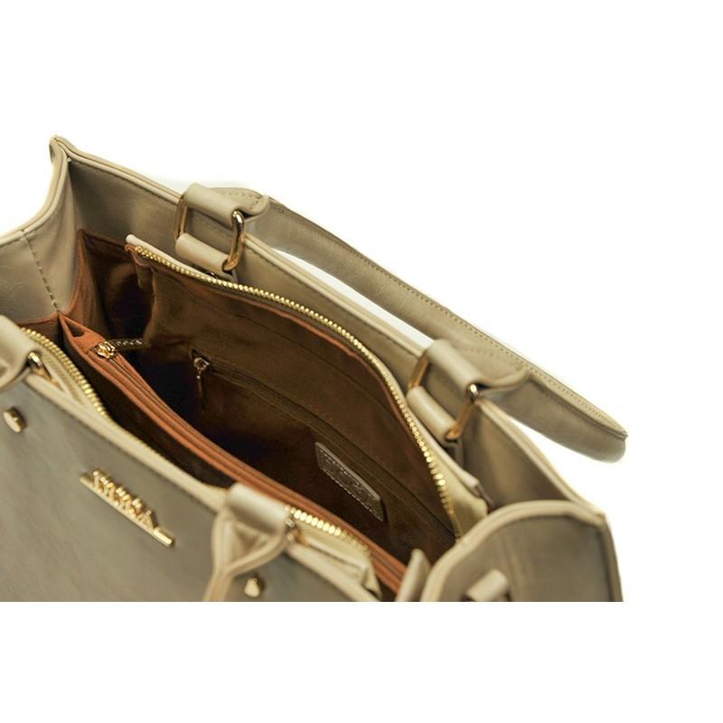 Dámská kabelka Doca 13397 - béžová