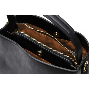 Dámská kabelka Doca 13398 - černá