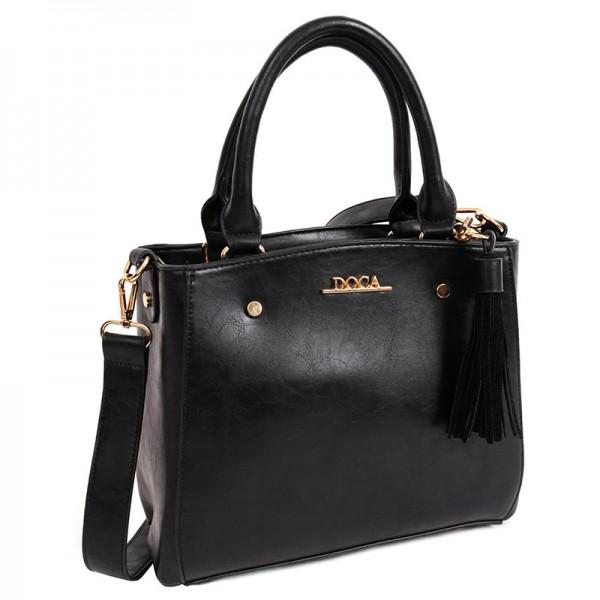 Dámská kabelka Doca 13401 - černá