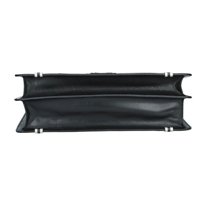 Pánská kožená aktovka Lagen Artur - černá