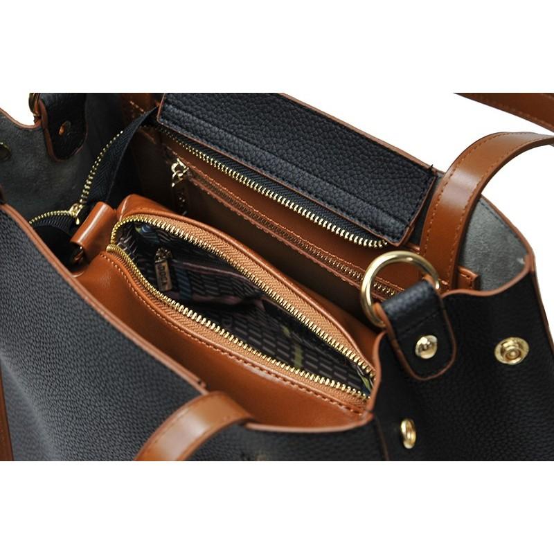Dámská kabelka Doca 13404 - černá