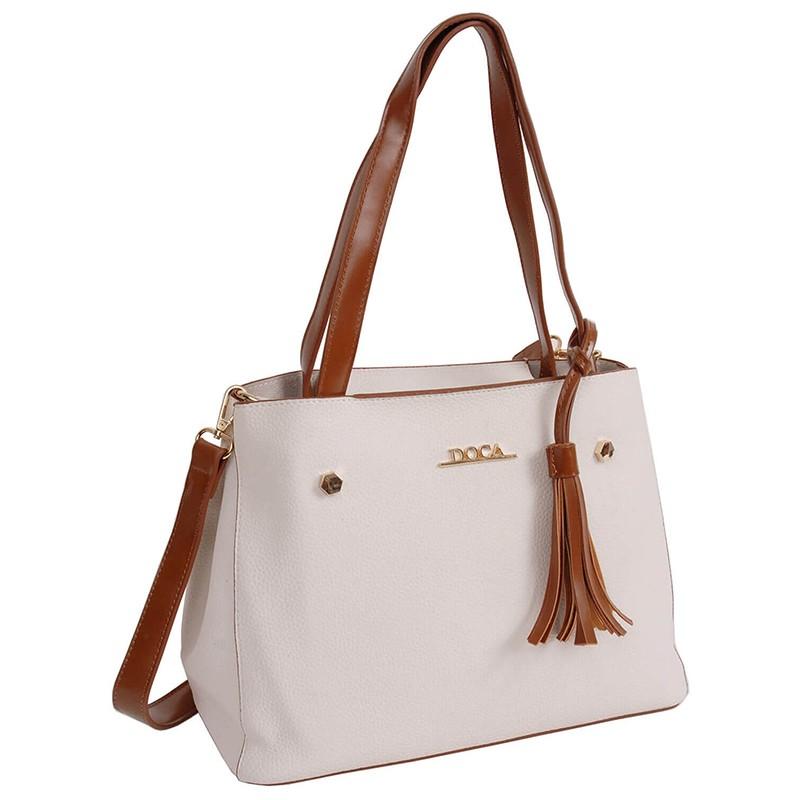 Dámská kabelka Doca 13405 - bílá
