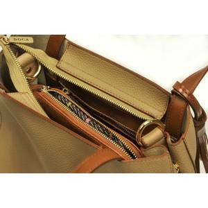 Dámská kabelka Doca 13406 - béžová